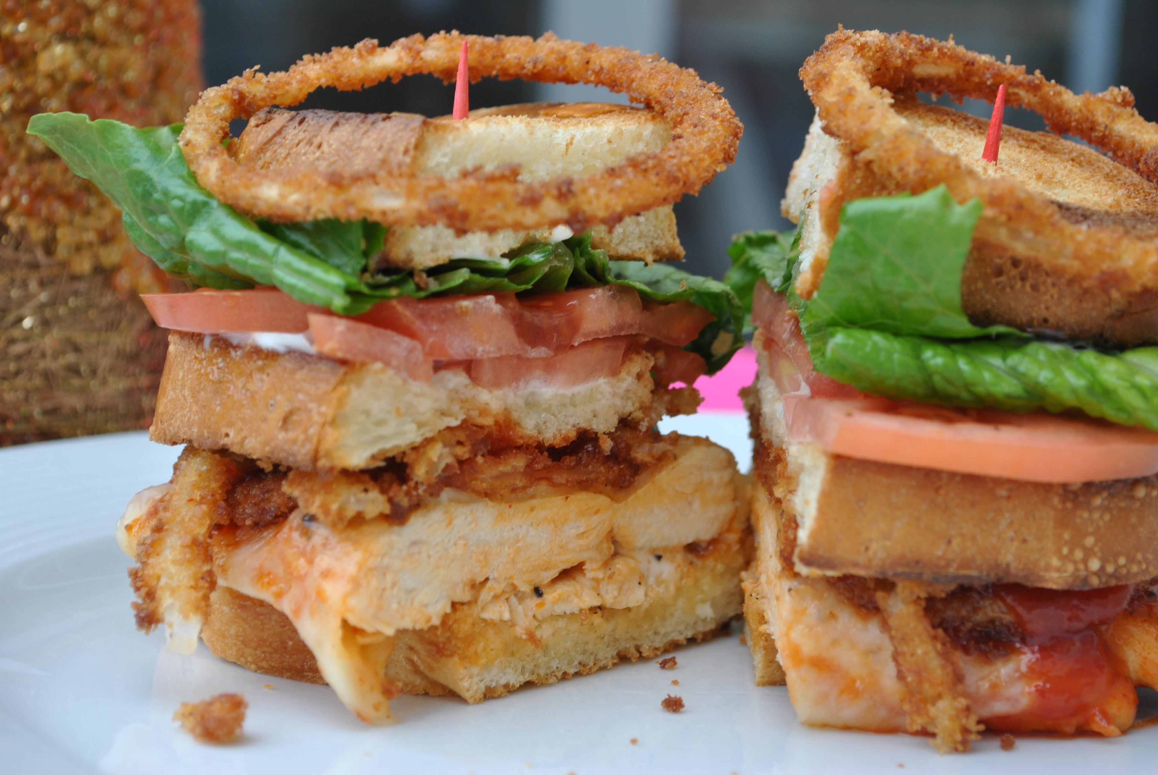 buffalo chicken club sandwich