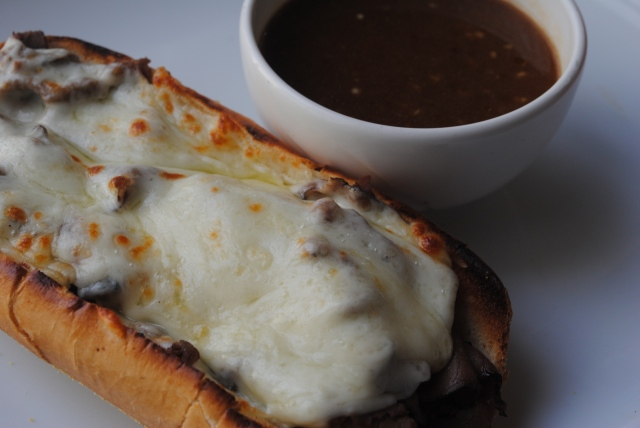 French Dip Sand and Cream of Crab Soup 012